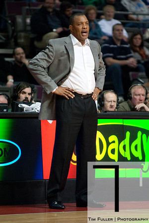 Nov 28, 2012; Auburn Hills, MI, USA; Phoenix Suns head coach Alvin Gentry during the first quarter against the Detroit Pistons at The Palace. Mandatory Credit: Tim Fuller-USA TODAY Sports