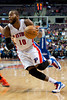 Nov 28, 2012; Auburn Hills, MI, USA; Detroit Pistons center Greg Monroe (10) during the third quarter against the Phoenix Suns at The Palace. Detroit won 117-77. Mandatory Credit: Tim Fuller-USA TODAY Sports