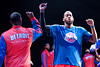 Nov 28, 2012; Auburn Hills, MI, USA; Detroit Pistons center Greg Monroe (right) high fives point guard Rodney Stuckey (left) before the game against the Phoenix Suns at The Palace. Mandatory Credit: Tim Fuller-USA TODAY Sports