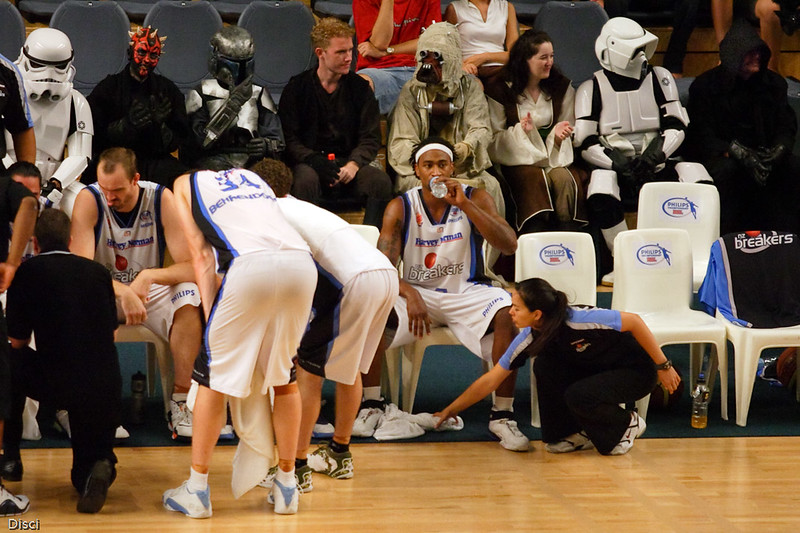 Retro Nights attract the Star Wars gear - Brisbane Bullets v New Zealand Breakers Retro Night, 3 February 2007