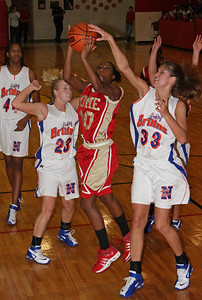 Rome #10 Kristina Watters Shoots over #23 Caitie Trew and #33 Christy Robinson