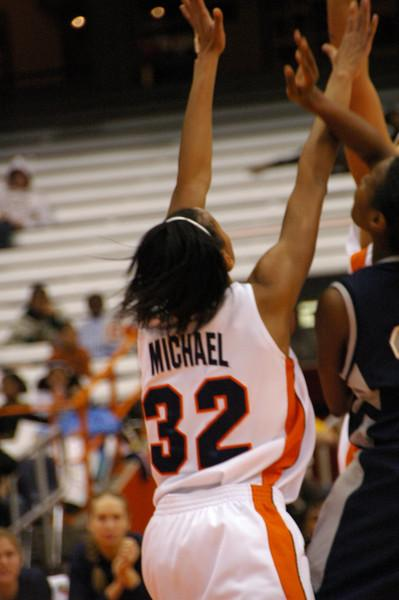 Nicole Michael going for a rebound.