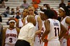 Coach Hillsman launches into an angry tirade, dressing down several players with various stares and words during a team huddle on the court during a timeout with the Orange down by 12 points with 11 minutes to go. (paraphrased from the Post-Standard article about the game.)