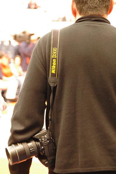 A Nikon D300 sighting at a major sporting event.