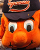 Otto, the Orange, Syracuse University's mascot.