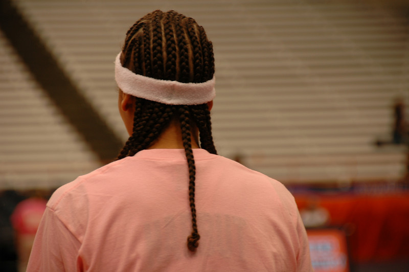 Tracy Harbut's hairstyle.