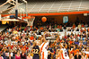 Action under SU's basket during the second half.