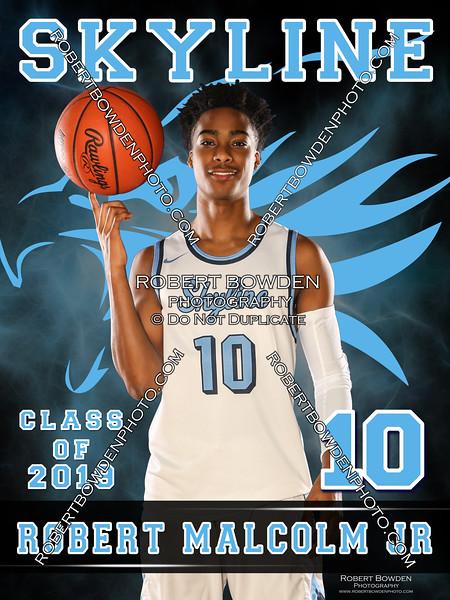 2018 Skyline Basketball Banner Robert Malcolm Jr