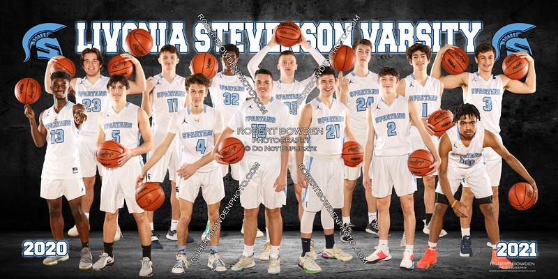 Stevenson Mens Basketball Team Banner 2020-21