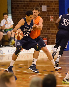 Brad Waldow, Alex Loughton - Cairns Taipans v St Mary's Gaels Basketball, held at The Southport School, Gold Coast, Queensland, Australia; Tuesday 20 August 2013. Camera 1. Photos by Des Thureson - http://disci.smugmug.com.