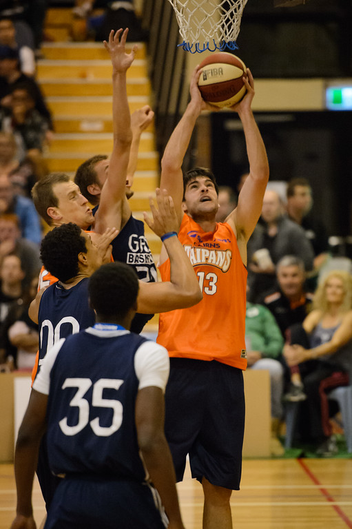 "Stephen Weigh - Cairns Taipans v St Mary's Gaels Basketball, held at The Southport School, Gold Coast, Queensland, Australia; Tuesday 20 August 2013. Camera 1. Photos by Des Thureson - <a href=""http://disci.smugmug.com"">http://disci.smugmug.com</a>."