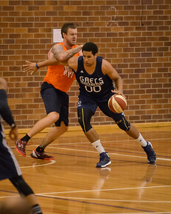 Brad Waldow, Cameron Tragardh - Cairns Taipans v St Mary's Gaels Basketball, held at The Southport School, Gold Coast, Queensland, Australia; Tuesday 20 August 2013. Camera 1. Photos by Des Thureson - http://disci.smugmug.com.