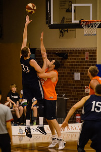 Matt Hodgeson, Matt Burston - Cairns Taipans v St Mary's Gaels Basketball, held at The Southport School, Gold Coast, Queensland, Australia; Tuesday 20 August 2013. Camera 1. Photos by Des Thureson - http://disci.smugmug.com.