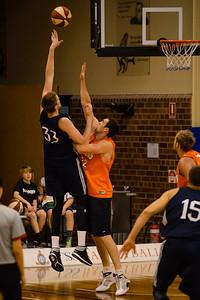Matt Hodgeson, Matt Burston - Cairns Taipans v St Mary's Gaels Basketball, held at The Southport School, Gold Coast, Queensland, Australia; Tuesday 20 August 2013. Camera 1. Photos by Des Thureson - http://disci.smugmug.com.
