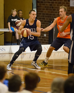 Beau Levesque, Mitch Young - Cairns Taipans v St Mary's Gaels Basketball, held at The Southport School, Gold Coast, Queensland, Australia; Tuesday 20 August 2013. Camera 1. Photos by Des Thureson - http://disci.smugmug.com.