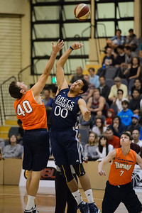 Alex Loughton, Brad Waldow - Cairns Taipans v St Mary's Gaels Basketball, held at The Southport School, Gold Coast, Queensland, Australia; Tuesday 20 August 2013. Camera 1. Photos by Des Thureson - http://disci.smugmug.com.