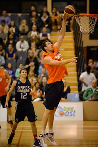 Matt Burston - Cairns Taipans v St Mary's Gaels Basketball, held at The Southport School, Gold Coast, Queensland, Australia; Tuesday 20 August 2013. Camera 1. Photos by Des Thureson - http://disci.smugmug.com.
