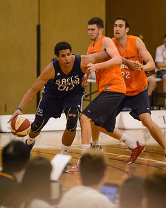 Brad Waldow, Clint Steindl - Cairns Taipans v St Mary's Gaels Basketball, held at The Southport School, Gold Coast, Queensland, Australia; Tuesday 20 August 2013. Camera 1. Photos by Des Thureson - http://disci.smugmug.com.