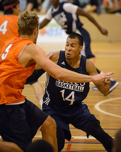 Stephen Holt, Mitch Young - Cairns Taipans v St Mary's Gaels Basketball, held at The Southport School, Gold Coast, Queensland, Australia; Tuesday 20 August 2013. Camera 1. Photos by Des Thureson - http://disci.smugmug.com.