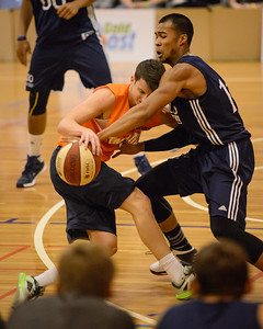 Shaun Bruce, Stephen Holt - Cairns Taipans v St Mary's Gaels Basketball, held at The Southport School, Gold Coast, Queensland, Australia; Tuesday 20 August 2013. Camera 1. Photos by Des Thureson - http://disci.smugmug.com.