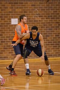 Brad Waldow, Cameron Tragardh - Cairns Taipans v St Mary's Gaels Basketball, held at The Southport School, Gold Coast, Queensland, Australia; Tuesday 20 August 2013. Camera 1. Photos by Des Thureson - http://disci.smugmug.com.