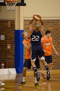 Mitch Young, Garrett Jackson - Cairns Taipans v St Mary's Gaels Basketball, held at The Southport School, Gold Coast, Queensland, Australia; Tuesday 20 August 2013. Camera 1. Photos by Des Thureson - http://disci.smugmug.com.
