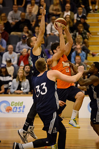 Stephen Weigh, Matt Hodgeson, Beau Levesque - Cairns Taipans v St Mary's Gaels Basketball, held at The Southport School, Gold Coast, Queensland, Australia; Tuesday 20 August 2013. Camera 1. Photos by Des Thureson - http://disci.smugmug.com.