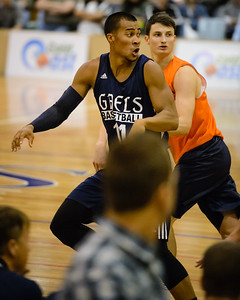 Stephen Holt, Shaun Bruce - Cairns Taipans v St Mary's Gaels Basketball, held at The Southport School, Gold Coast, Queensland, Australia; Tuesday 20 August 2013. Camera 1. Photos by Des Thureson - http://disci.smugmug.com.