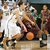 Nov 20, 2011; East Lansing, MI, USA; Arkansas Little Rock Trojans guard D'Andre Williams (10) guards Michigan State Spartans guard Travis Trice (20)  during the first half at the Breslin Center. Mandatory Credit: Tim Fuller-US PRESSWIRE
