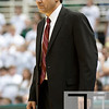 Nov 20, 2011; East Lansing, MI, USA; Arkansas Little Rock Trojans head coach Steve Shields during the second half against the Michigan State Spartans at the Breslin Center. The Spartans won 69-47. Mandatory Credit: Tim Fuller-US PRESSWIRE