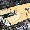 Nov 20, 2011; East Lansing, MI, USA;  A NCAA basketball game between the Michigan State Spartans and the Arkansas Little Rock Trojans at the Breslin Center. The Spartans won 69-47. Mandatory Credit: Tim Fuller-US PRESSWIRE