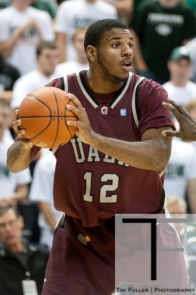 Nov 20, 2011; East Lansing, MI, USA; Arkansas Little Rock Trojans forward Courtney Jackson (12) during the second half against the Michigan State Spartans at the Breslin Center. The Spartans won 69-47. Mandatory Credit: Tim Fuller-US PRESSWIRE