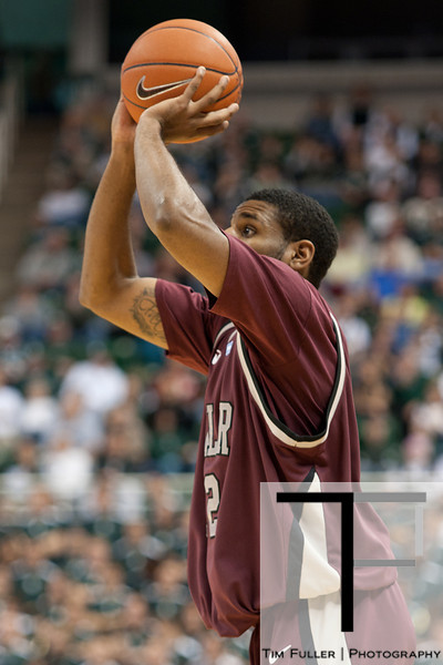 Nov 20, 2011; East Lansing, MI, USA; Arkansas Little Rock Trojans forward Courtney Jackson (12) during the first half against the Michigan State Spartans at the Breslin Center. Mandatory Credit: Tim Fuller-US PRESSWIRE