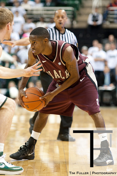 Nov 20, 2011; East Lansing, MI, USA; Arkansas Little Rock Trojans guard D'Andre Williams (10) during the second half against the Michigan State Spartans at the Breslin Center. The Spartans won 69-47. Mandatory Credit: Tim Fuller-US PRESSWIRE