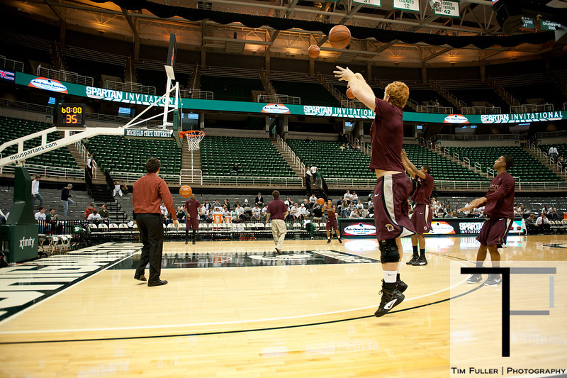 Nov 20, 2011; East Lansing, MI, USA; Arkansas Little Rock Trojans forward Taggart Lockhart (23) warms up before the game against the Michigan State Spartans at the Breslin Center. Mandatory Credit: Tim Fuller-US PRESSWIRE