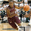 Nov 20, 2011; East Lansing, MI, USA; Arkansas Little Rock Trojans guard D'Andre Williams (10) drives the lane during the second half against the Michigan State Spartans at the Breslin Center. The Spartans won 69-47. Mandatory Credit: Tim Fuller-US PRESSWIRE