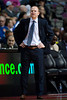 Jan 12, 2013; Auburn Hills, MI, USA; Detroit Pistons head coach Lawrence Frank during the third quarter against the Utah Jazz at The Palace. Jazz won 90-87. Mandatory Credit: Tim Fuller-USA TODAY Sports