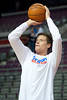 Jan 12, 2013; Auburn Hills, MI, USA; Detroit Pistons power forward Jonas Jerebko (33) warms up before the game against the Utah Jazz at The Palace. Mandatory Credit: Tim Fuller-USA TODAY Sports