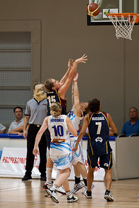 Marta Dydek shoots - WNBL: Logan Thunder v Bendigo Spirit 12 February, 2010. The Bendigo Spirit were down most of the the game, but ended up with the win, 86-82.