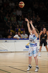 Kristi Harrower takes a free throw - WNBL: Logan Thunder v Bendigo Spirit 12 February, 2010. The Bendigo Spirit were down most of the the game, but ended up with the win, 86-82.
