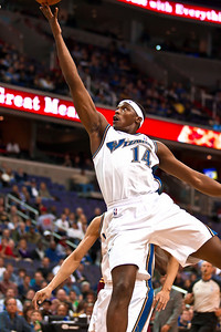 Al Thornton of the Washington Wizards goes up for a score. Thornton led the team scoring with 23 points.