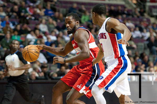 Dec 21, 2012; Auburn Hills, MI, USA; Washington Wizards small forward Martell Webster (9) looks to get past Detroit Pistons point guard Brandon Knight (7) during the first quarter at The Palace. Mandatory Credit: Tim Fuller-USA TODAY Sports