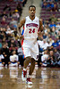 Dec 21, 2012; Auburn Hills, MI, USA; Detroit Pistons shooting guard Kim English (24) during the fourth quarter against the Washington Wizards at The Palace. Pistons won 100-68. Mandatory Credit: Tim Fuller-USA TODAY Sports