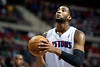 Dec 21, 2012; Auburn Hills, MI, USA; Detroit Pistons center Andre Drummond (1) during the fourth quarter against the Washington Wizards at The Palace. Pistons won 100-68. Mandatory Credit: Tim Fuller-USA TODAY Sports