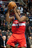 Dec 21, 2012; Auburn Hills, MI, USA; Washington Wizards power forward Kevin Seraphin (13) during the second quarter against the Detroit Pistons at The Palace. Mandatory Credit: Tim Fuller-USA TODAY Sports