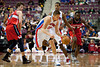 Dec 21, 2012; Auburn Hills, MI, USA; Detroit Pistons power forward Jonas Jerebko (33) brings the ball up court against the Washington Wizards during the fourth quarter at The Palace. Pistons won 100-68. Mandatory Credit: Tim Fuller-USA TODAY Sports