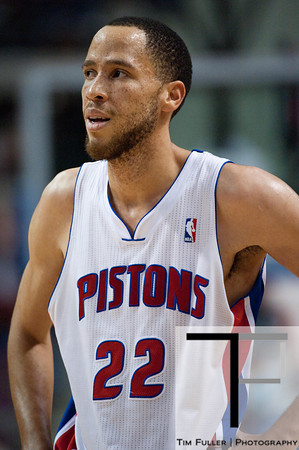 Dec 21, 2012; Auburn Hills, MI, USA; Detroit Pistons small forward Tayshaun Prince (22) during the game against the Washington Wizards at The Palace. Pistons won 100-68. Mandatory Credit: Tim Fuller-USA TODAY Sports