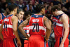 Dec 21, 2012; Auburn Hills, MI, USA; Washington Wizards head coach Randy Wittman talks to his team during the fourth quarter against the Detroit Pistons at The Palace. Pistons won 100-68. Mandatory Credit: Tim Fuller-USA TODAY Sports