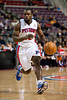 Dec 21, 2012; Auburn Hills, MI, USA; Detroit Pistons point guard Will Bynum (12) drives to the basket during the fourth quarter against the Washington Wizards at The Palace. Pistons won 100-68. Mandatory Credit: Tim Fuller-USA TODAY Sports