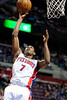 Dec 21, 2012; Auburn Hills, MI, USA; Detroit Pistons point guard Brandon Knight (7) goes to the basket against the Washington Wizards during the third quarter at The Palace. Pistons won 100-68. Mandatory Credit: Tim Fuller-USA TODAY Sports